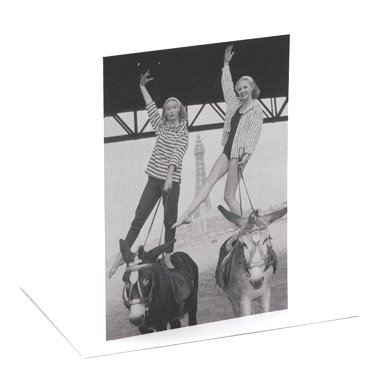 Blackpool Beach Single Greeting Card||RF10F