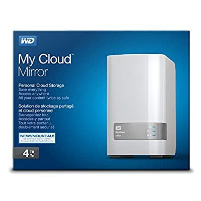 WD My Cloud Mirror 4TB Personal Network Attached Storage (White)