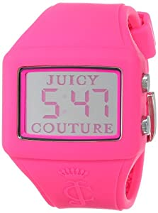 """Juicy Couture Women's 1900990 """"Chrissy"""" Pink Silicone Digital Watch"""