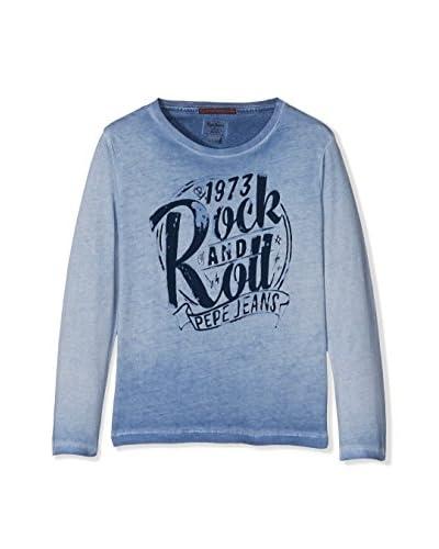 Pepe Jeans London Camiseta Manga Larga Troy Kids Azul