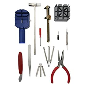 watch freeks 5 12 16 piece deluxe watch repair tool kit wrk001. Black Bedroom Furniture Sets. Home Design Ideas
