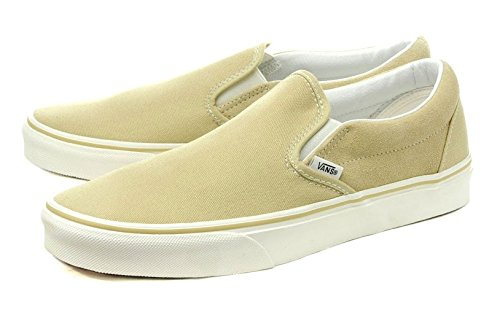 [バンズ] VANS CLASSIC SLIP-ON (CANVAS/SUEDE) PALE KHAKI スリッポン vn03dvhyg