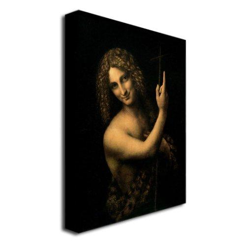 Trademark Fine Art St. John The Baptist 1513-16 By Leonardo Da Vinci Canvas Wall Art, 26X32-Inch front-855829