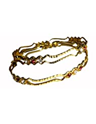 Neeju Collection 1 Gram Gold Plated Bangles.