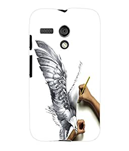 Fuson 3D Printed Sketch Designer Back Case Cover for Motorola Moto G - D1098
