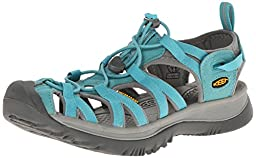 KEEN Women\'s Whisper Sandal, Baltic/Neutral Gray, 7.5 M US
