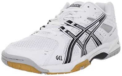 ASICS Men's GEL-Rocket 6 Volleyball Shoe,White/Black/Silver,6 M US