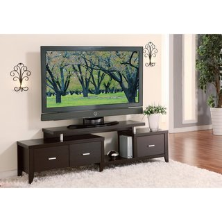Cappuccino 60-inch Expandable Tv Media Entertainment Console Center - 3 Adjustable Drawers