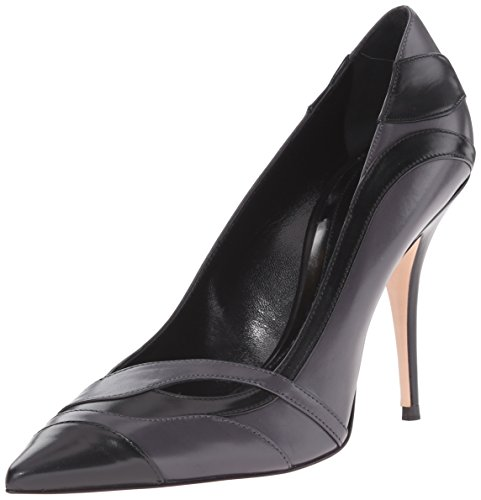 Sebastian-Womens-Black-Tipped-Silver-Dress-Pump