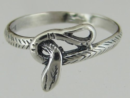 A Baby Snake Ring in Sterling Silver Made in America