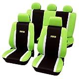 Schonbezug / Sitzbezug Power schwarz/grün/weiß