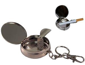 Steel Mini Portable Personal Pocket Ashtray Keychain