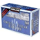 Kirkland Signature - Crystal Clear Cutlery 360 Pieces (180 Forks - 120 Spoons - 60 Knives) -