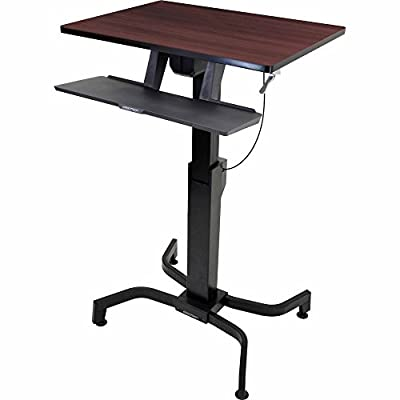 Ergotron 24-280-927 WorkFit-PD Sit-Stand Desk with 19.5-Inch Height Adjustment