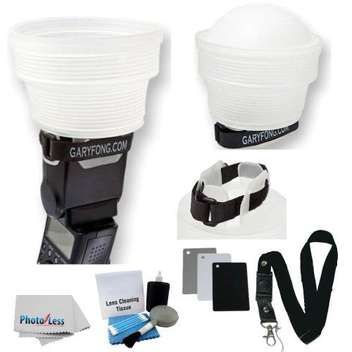 Gary Fong lightsphere Collapsible Speed Mount Light Sphere CLOUD with Speed Mount For Nikon Flash SB-700 SB-900 SB 910 SB-400 SB-600 SB-800 + 3 Pic Cleaning Kit