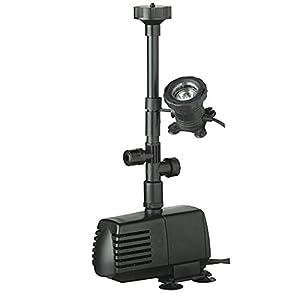 LIBEL (UBBINK) Xtra 1000 LV Teichpumpe + AquaLight 20 Unterwasserspot   Kritiken und weitere Informationen