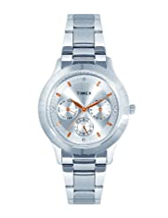 Timex E Class Multi Function Chronograph Silver Dial Women's Watch TI000Q80300