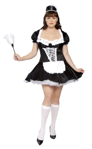 Roma Costume Plus-Size 3 Piece French Maid Costume