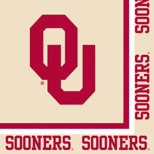 Creative Converting Oklahoma Sooners Luncheon Napkins (20 Count)