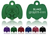 "Dog Face Pet Tags FREE & Fast Shipping! Enter details in ""Gift Message area at checkout"