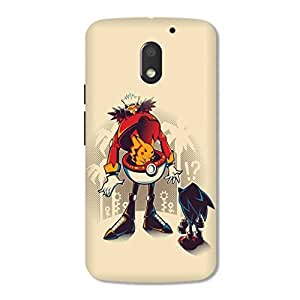 OVERSHADOW DESIGNER PRINTED BACK CASE COVER for MOTO E3