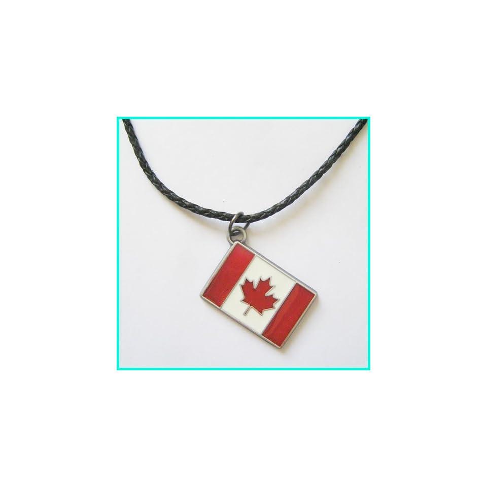 New Canda Maple Leaf Flag Emblem Necklace NC T031