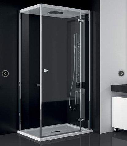 Teuco box doccia chapeau cm 100x75 porta a battente - Cabine doccia teuco ...