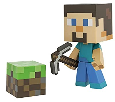 "Minecraft Steve Vinyl 6"" Limited Edition Figure with Minecraft Diamond Steve Vinyl 6"" Diamond Edition Figure from Maven Gifts"