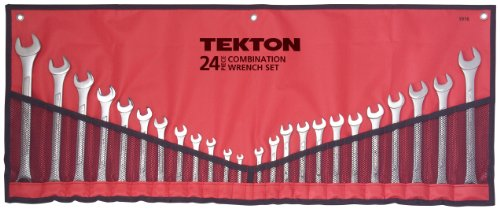 TEKTON 1916 Combination Wrench Set, SAE/Metric, 24-Piece