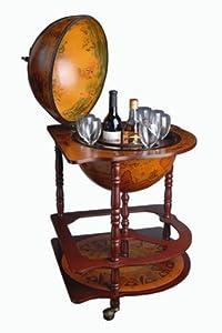 bar d 39 angle globe terrestre mappemonde cuisine maison. Black Bedroom Furniture Sets. Home Design Ideas
