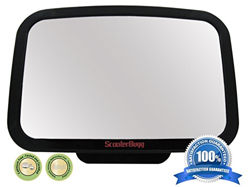 Best Review Of ☆ Baby Back Seat Mirror ☆ Shatterproof & Cadmium Free - No Center Headrest Re...
