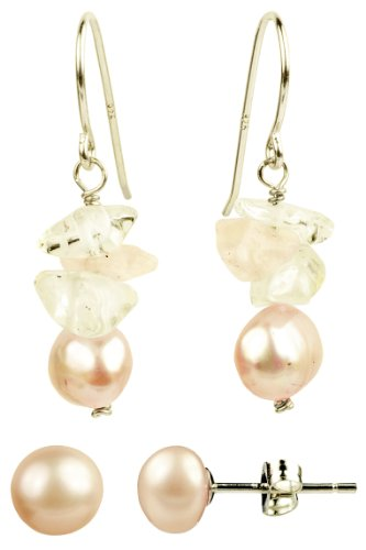 Freshwater Pink Pearl Drop Earrings
