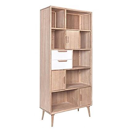 Bizzotto Brigitte Libreria 3A-2C, Legno, Marrone, 94 x 42 x 205 cm