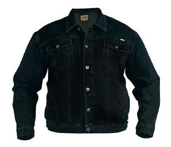 Mens Denim Jacket Big Kingsize Denims Jackets Small To 6XL (1X-Large, Black)