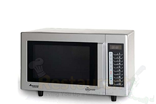 Amana Commercial Digital Microwave .8 Cft Countertop 1000 Watt Low Volume Model Rms10T