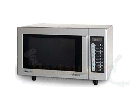Amana Commercial Digital Microwave .8 Cft Countertop 1000 Watt Low Volume Model Rms10Ts