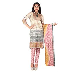 RangoliSF Woman's Cotton Unstitched Dress Material (RSFT1005 Pink)