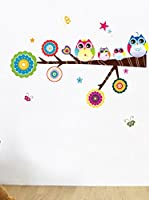Ambiance Sticker Vinilo Decorativo Owls And Stars