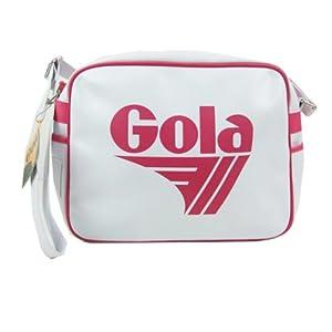 Original Gola Redford Classic Retro 70s Messenger Shoulder Bag white/pink