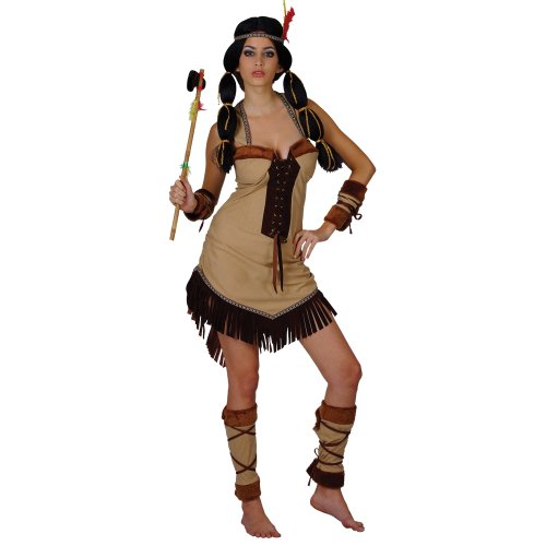 Indian Princess Ladies Wild West Fancy Dress Costume