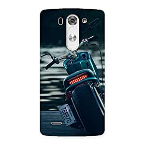 Impressive Bike Chopper Multicolor Back Case Cover for LG G3 Beat
