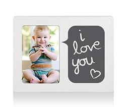 Pearhead Chalkboard Talk Bubble Frame, Baby Talk