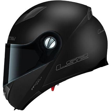 LS2 fF370 easy casque à visière avec pare-soleil-noir mat