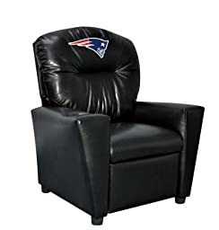 Imperial Officially Licensed NFL Furniture: Youth Faux Leather Recliner, New England Patriots