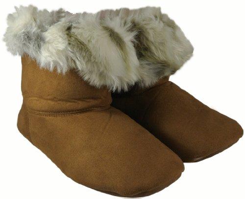 Cheap Style & Co. Faux Fur Chestnut Brown Bootie Slippers Size X-Large Fits Ladies Shoe Size 11-12 (B009CXXW6U)