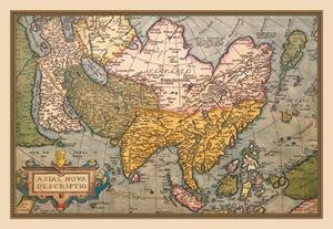 12 X 18 Stretched Canvas Poster Map of Asia