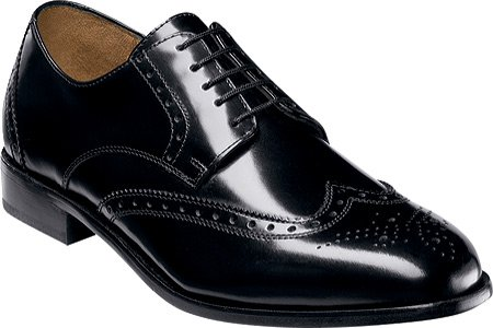 Florsheim Mens Brookside Black Oxfords shoe Sz: 12 Picture