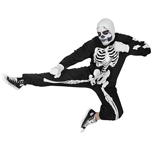 Adult Karate Kid Skeleton Halloween Costume