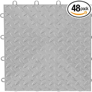 Gladiator GarageWorks GAFT48TTPS Silver Floor Tile, 48-Pack