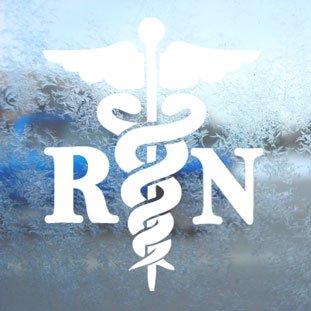 Caduceus-Registered-Nurse-RN-Decal-Window-Sticker